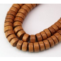 -Bayong Wood Beads, Brown, 10x5mm Pucalet