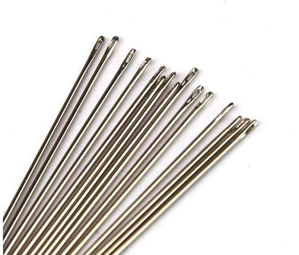 English Sharp Beading Needles, 32mm long, Size 10 (Regular), Pack of 25