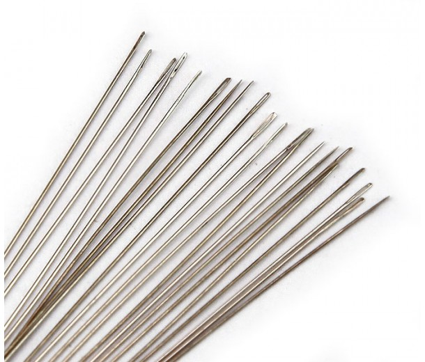 English Beading Needles, 45mm long, Size 15 (Extra Thin)