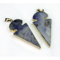 45mm Agate Arrowhead Pendant, Purple