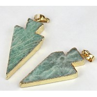 -30mm Arrowhead Pendant, Russian Amazonite