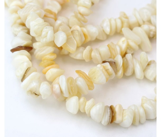 Mother of Pearl Beads, Medium Chip