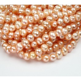 Freshwater Pearls, Blush Pink, 6x7mm Potato