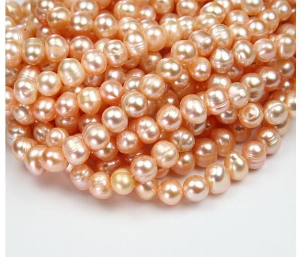 Freshwater Pearls, Blush Pink, 6x7mm Potato