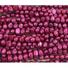 Freshwater Pearls, Magenta, 6-7mm Nugget