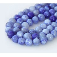 Shell Beads, Purple, 6mm Round
