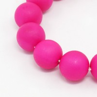 Matte Shell Pearls, Fuchsia, 8mm Round