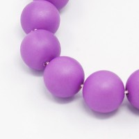 Matte Shell Pearls, Orchid, 8mm Round