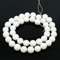 Matte Shell Pearls, White, 8mm Round
