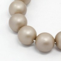 Matte Shell Pearls, Cocoa, 6mm Round