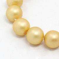 Matte Shell Pearls, Gold, 8mm Round