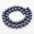 Matte Shell Pearls, Indigo Blue, 8mm Round