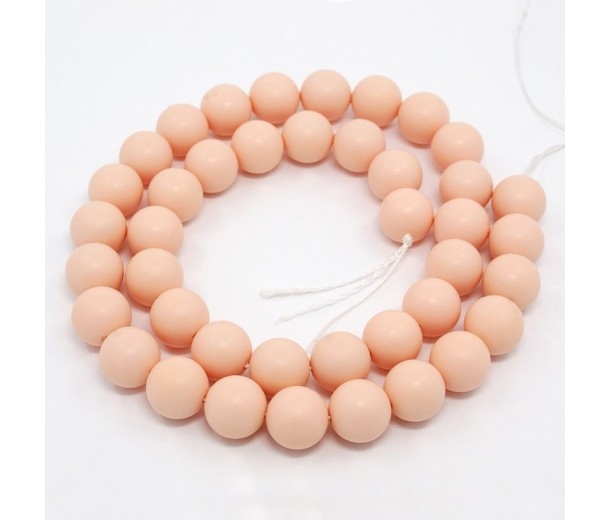Matte Shell Pearls, Opaque Blush Pink, 6mm Round