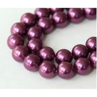 Shell Pearls, Magenta, 8mm Round
