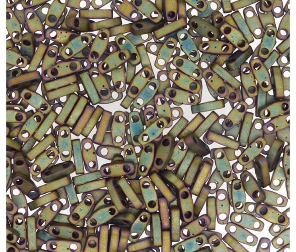 5mm Miyuki Quarter Tila Beads, Matte Rainbow Antique Bronze, 10 Gram Bag