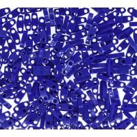 5mm Miyuki Quarter Tila Beads, Opaque Cobalt Blue, 10 Gram Bag