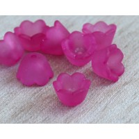 Fuchsia Lucite Flower Beads, 6x10mm Lily of the Valley, Pack of 20