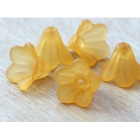 Melon Orange Lucite Flower Beads, 10x15mm Amaryllis