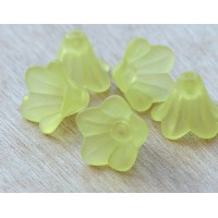 Light Yellow Lucite Flower Beads, 10x15mm Amaryllis