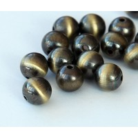 10mm Round Metalized Plastic Beads, Brus..