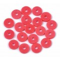 Polymer Clay Beads, Poppy Red, 6mm Heishi Disk