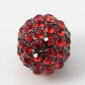 Light Siam Gunmetal Rhinestone Ball Beads, 12mm Round, Pack of 5