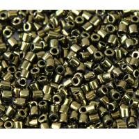 8/0 Miyuki Delica Seed Beads, Metallic Olive, 10 Gram Bag