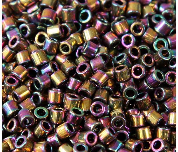 8/0 Miyuki Delica Seed Beads, Rainbow Light Bronze, 10 Gram Bag
