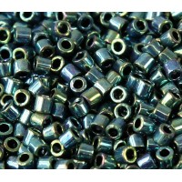 8/0 Miyuki Delica Seed Beads, Metallic Emerald