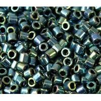 8/0 Miyuki Delica Seed Beads, Metallic Emerald, 10 Gram Bag
