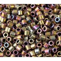 8/0 Miyuki Delica Seed Beads, Golden Nickel Plated, 10 Gram Bag