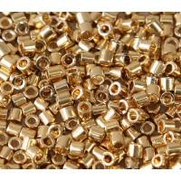 8/0 Miyuki Delica Seed Beads, 24K Light Gold Plated, 5 Gram Bag