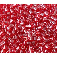 8/0 Miyuki Delica Seed Beads, Strawberry Red Luster, 10 Gram Bag