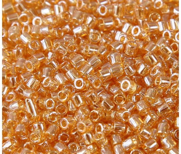 8/0 Miyuki Delica Seed Beads, Light Gold Luster, 10 Gram Bag
