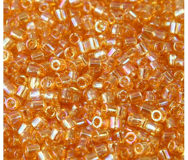 8/0 Miyuki Delica Seed Beads, Rainbow Light Gold, 10 Gram Bag