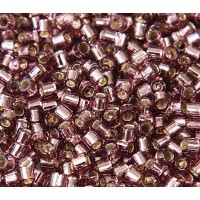 8/0 Miyuki Delica Seed Beads, Silver Lined Light Amethyst, 10 Gram Bag