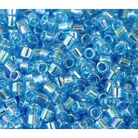 8/0 Miyuki Delica Seed Beads, Rainbow Aqua Blue, 10 Gram Bag