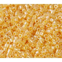 8/0 Miyuki Delica Seed Beads, Butterscotch Lined Crystal, 10 Gram Bag