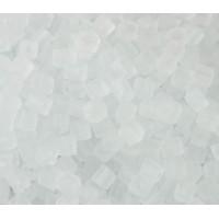 4mm Miyuki Square Beads, Matte Crystal