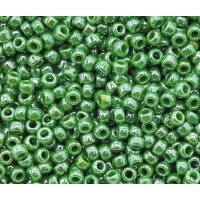 11/0 Toho Round Seed Beads, Opaque Mint Green Luster, 10 Gram Bag