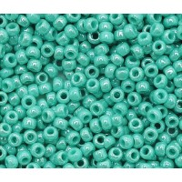 11/0 Toho Round Seed Beads, Opaque Turquoise Luster, 10 Gram Bag