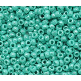 11/0 Toho Round Seed Beads, Opaque Turquoise Luster