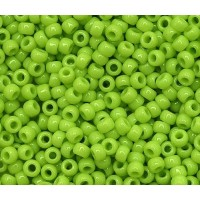 11/0 Toho Round Seed Beads, Opaque Sour Apple, 10 Gram Bag