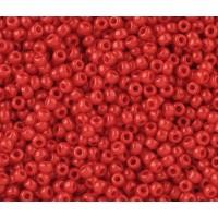 11/0 Toho Round Seed Beads, Opaque Cherry, 10 Gram Bag