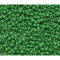 11/0 Toho Round Seed Beads, Opaque Shamrock, 10 Gram Bag