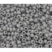 15/0 Toho Round Seed Beads, Opaque Gray, 7.8 Gram Tube