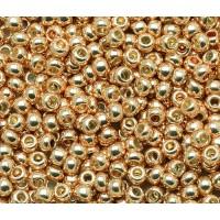 11/0 Toho Round Seed Beads, Galvanized Rose Gold, 10 Gram Bag