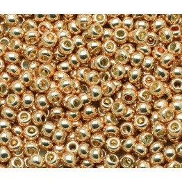 11/0 Toho Round Seed Beads, Galvanized Rose Gold
