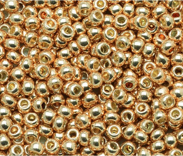 11/0 Toho Round Seed Beads, Galvanized Rose Gold, 10 Gram Bag