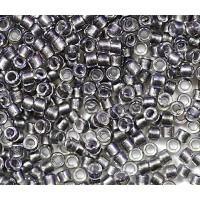 11/0 Toho Treasure Seed Beads, Opaque Gray Lined Gold Crystal, 5 Gram Bag